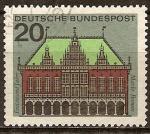 Sellos de Europa - Alemania -     Ayuntamiento de Bremen - Mil años de mercado Bremen.
