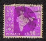 Stamps India -  Mapa de la India