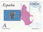 Stamps Spain -  CIUDAD DE MELILLA -Autonomías españolas (12)