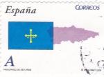 Stamps Spain -  PRINCIPADO DE ASTURIAS -Autonomías españolas (12)
