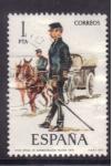 Stamps Spain -  Oficial de administración militar 1875