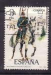 Stamps Spain -  teniente de artillería rodada 1912