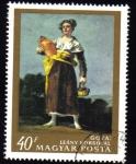 Sellos del Mundo : Europa : Hungría :  Girl with Pitcher by Goya