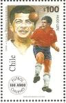 Sellos de America - Chile -  100  AÑOS  DEL  FUTBOL  CHILENO.  HUGO  LEPE.
