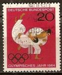 Sellos del Mundo : Europa : Alemania : Juegos Olímpicos de Verano 1964, Tokio.