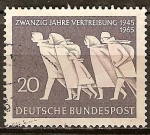 Sellos de Europa - Alemania -   Veinte años de expulsión, 1945 1965.