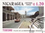 Sellos de America - Nicaragua -  Plaza de la Independencia-Granada-TURISMO