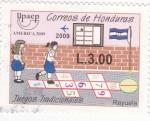 Sellos de America - Honduras -  Juegos tradicionales-UPAEP