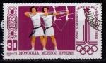 Sellos del Mundo : Asia : Mongolia : 1053- Olimpiadas Moscú 80