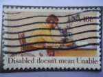 Stamps United States -  USA- Discapacidad no significa, no