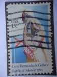 Stamps United States -  General: Bernardo de Gálvez - Batalla de Móvil 1780.