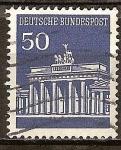 Sellos de Europa - Alemania -  La Puerta de Brandenburgo en Berlín.