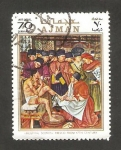 Stamps United Arab Emirates -  Ajman - Navidad, cuadro de Dürer