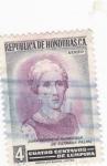 Stamps Honduras -  Genoveva Guardiola de Estrada