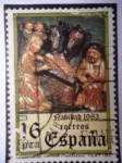 Stamps Spain -  Ed.2729 - Navidad 1983 - La natividad 1983- La Natividad. Tortosa (Tarragona)