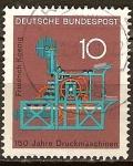 Sellos de Europa - Alemania -  150 años máquinas de impresión, Friedrich Koenig.