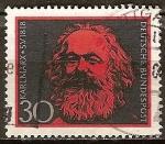 Sellos de Europa - Alemania -  150a Aniv nacimiento de Karl Marx.