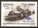 Sellos del Mundo : Europa : España : 150a Aniv de la línea de Barcelona a Sarria.