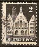 Sellos del Mundo : Europa : Alemania : El Romer, Frankfurt am Main.ocupación aliada general.