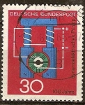 Sellos de Europa - Alemania -  100a.Principio de dinamoel�ctricos(Werner von Siemens).