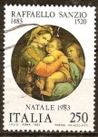 Sellos de Europa - Italia -  Navidad. 500a Aniv de nacimiento de Rafael (artista).