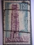 Stamps Spain -  Ed.2010-Iglesia Saint Jacques (Paris)-Año Santo Compostelano.