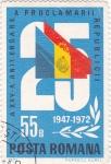 Stamps Romania -  25 Aniversario proclamación de la república