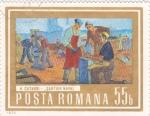 Sellos de Europa - Rumania -  Pintura- soldadores navales