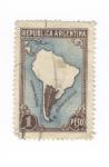 Sellos de America - Argentina -  Mapa de Argentina