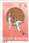 Stamps Romania -  Munich-72