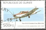 Stamps Guinea -  AVIONETA  PIPER  PA-28  CHEROKEE  ARROW