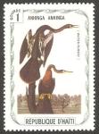Sellos de America - Haití -  Fauna, anhinga anhinga