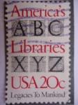 Sellos de Europa - España -  America´s Libraries - Las Bibliotecas americanas-Legados a la Humanidad.