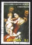 Sellos del Mundo : America : Guyana : Holy Family (Rubens)