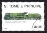 Sellos de Africa - Santo Tomé y Principe -  Tren Ingles 1927-1930