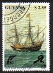 Sellos del Mundo : America : Guyana : War Ship XVI Century