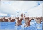 Stamps Spain -  Puentes de España. Puente de Toledo ( Madrid ).