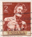 Sellos de Europa - España -  VIEJO DESNUDO AL SOL  (Fortuny)  (13)