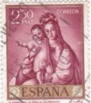 Stamps Spain -  LA VIRGEN DE LA GRACIA (Zurbarán) (13)