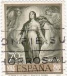 Sellos de Europa - España -  LA VIRGEN DE LOS FAROLES (Romero de Torres) (13)