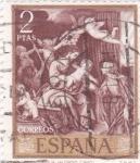 Sellos de Europa - España -  SAGRADA FAMILIA (Alonso Cano)  (13)