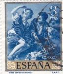 Stamps Spain -  NIÑOS COMIENDO (Murillo) (13)