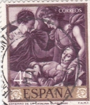 Stamps of the world : Spain :  ENTIERRO DE STA, CATALINA (Zurbarán) (13)