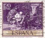 Stamps Spain -  EL COLECCIONISTA DE ESTAMPAS (Fortuny) (13)
