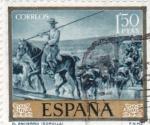 Stamps Spain -  EL ENCIERRO (Sorolla) (13)