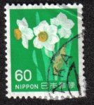Stamps Japan -  Narcissus