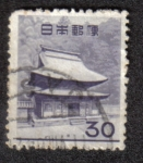 Stamps Japan -  Monastery