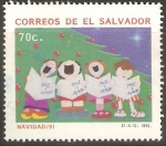 Sellos de America - El Salvador -  NAVIDAD.  CORO  DE  NIÑOS.