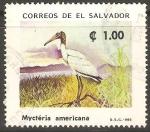 Sellos de America - El Salvador -  GARZA.  MYCTÈRIA  AMERICANA.