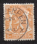 Stamps Belgium -  Coat of arms